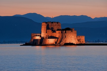 Castle Of Bourtzi In Nafplio, Greece Fototapete