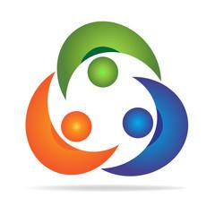 Logo teamwork partners union people
