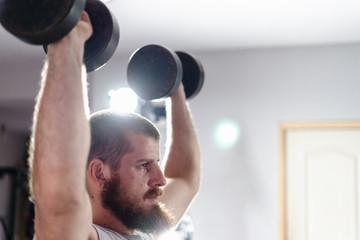 shoulder press with dumbbells