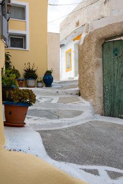 Walkway through neighborhood, Greece