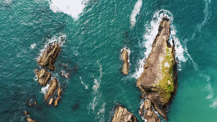 The famous Dunquin Pier near Dingle in Ireland – view from above