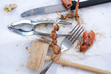 TOOLS FOR SURVIVE IN OCEAN CITY MARYLAND (STEAMED BLUE CRAB MEAL)