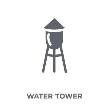 Water tower icon from Agriculture, Farming and Gardening collection.