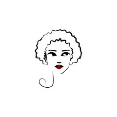 Halo hat, girl icon. Element of beautiful girl in a hat icon for mobile concept and web apps. Thin lin Halo hat, girl icon can be used for web and mobile