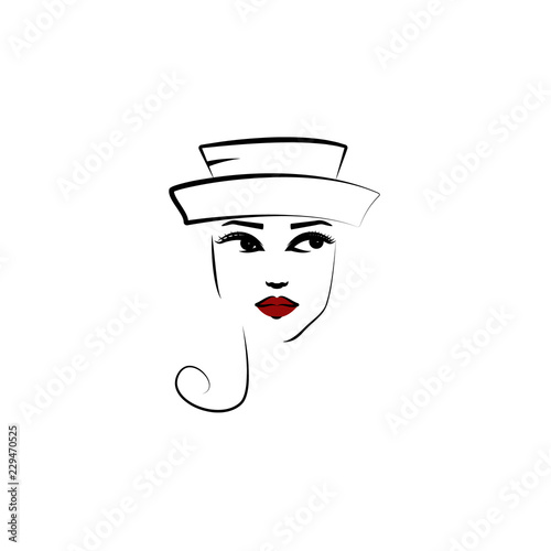 5b7dfd0c Breton hat, girl icon. Element of beautiful girl in a hat icon for mobile  concept and web apps. Thin lin Breton hat, girl icon can be used for web  and ...