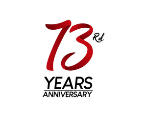 73 anniversary logo vector red ribbon