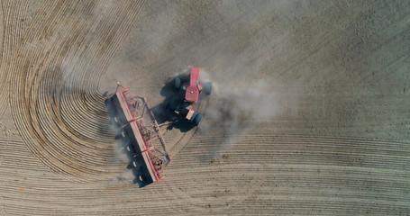 Tractor on a farm field