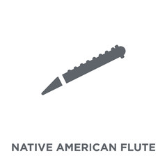 Native American Flute icon from American Indigenous Signals collection.
