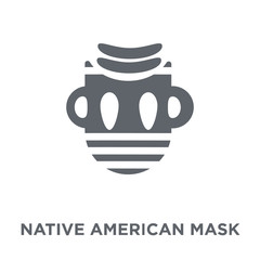 Native American Mask icon from American Indigenous Signals collection.