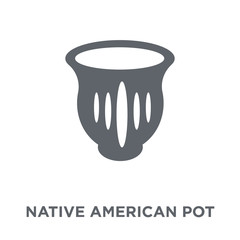 Native American Pot icon from American Indigenous Signals collection.