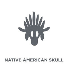 Native American Skull icon from American Indigenous Signals collection.