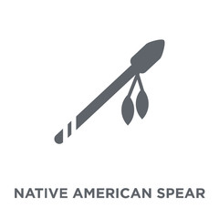 Native American Spear icon from American Indigenous Signals collection.