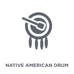 Native American Drum icon from American Indigenous Signals collection.
