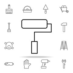 paint roller icon. construction icons universal set for web and mobile