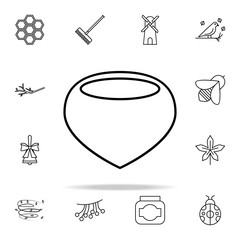 chestnut icon. autumn icons universal set for web and mobile