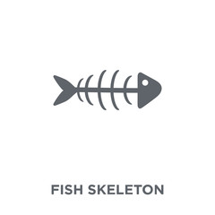 Fish skeleton icon from Drinks collection.
