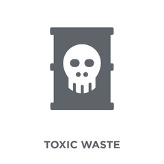 Toxic waste icon from Ecology collection.
