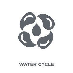 Water cycle icon from Ecology collection.