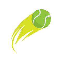 Isolated tennis ball with an effect. Vector illustration design