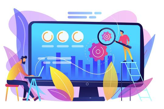 Conversion rate optimization concept vector illustration.