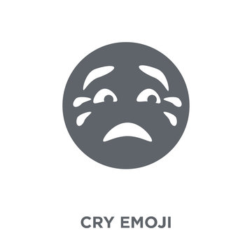 Cry emoji icon from Emoji collection.