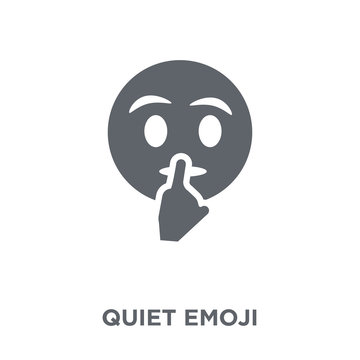 Quiet emoji icon from Emoji collection.
