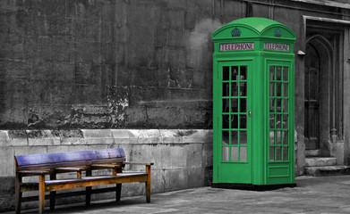 Green Phone Booth, London