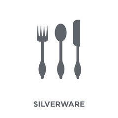 Silverware icon from Furniture and household collection.