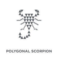 Polygonal scorpion icon from Geometry collection.