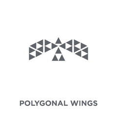 Polygonal wings icon from Geometry collection.