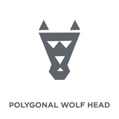 Polygonal wolf head icon from Geometry collection.