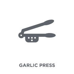 garlic press icon from Kitchen collection.