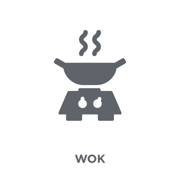 wok icon from Kitchen collection.