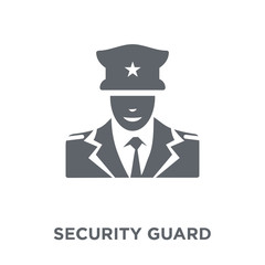 Security guard icon from Museum collection.