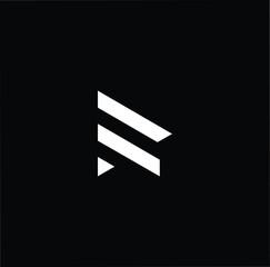 letter R RR minimalist art monogram arrow shape logo, white color on black background