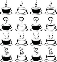 Stylish hot coffee cup set