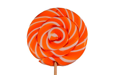 Big round lollipop isolated on a white background