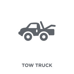 Tow truck icon from  collection.