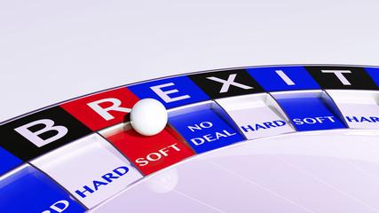 soft brexit  - concept roulette