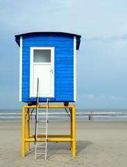 Fototapete - Auszeit, Entspannung, Ruhe, Urlaub in Deutschland: Strandkörbe, Dünengras, Sandstrand und Meer auf Langeoog :)