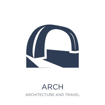 Arch icon. Trendy flat vector Arch icon on white background from Architecture and Travel collection