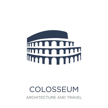 Colosseum icon. Trendy flat vector Colosseum icon on white background from Architecture and Travel collection