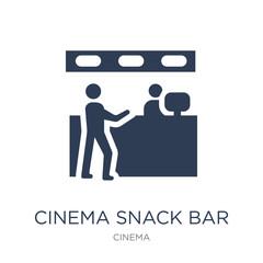 Cinema Snack Bar icon. Trendy flat vector Cinema Snack Bar icon on white background from Cinema collection
