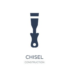 Chisel icon. Trendy flat vector Chisel icon on white background from Construction collection