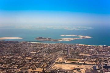 sea view in Dubai city, aerial scene