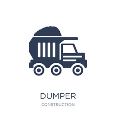 Dumper icon. Trendy flat vector Dumper icon on white background from Construction collection
