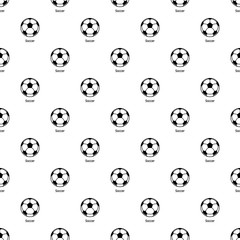 Soccer ball pattern vector seamless repeating for any web design