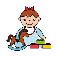 baby girl rocking horse blocks toys