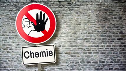 Schild 389 - Chemie