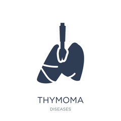 Thymoma icon. Trendy flat vector Thymoma icon on white background from Diseases collection